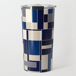 Blue abstract city Travel Mug