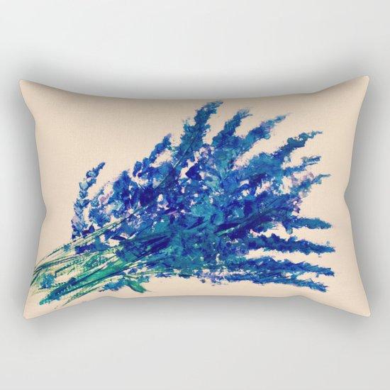 Fresh Cut Lavender Watercolors On Paper Edit Rectangular Pillow