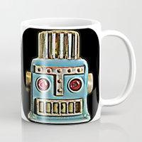 robot Mugs featuring Robot by Silvio Ledbetter