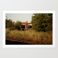 train ride to katowice Art Print