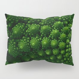 Macro Romanesco Broccoli - Low Key Pillow Sham