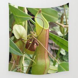Winged Tropical Pitcher Plant 2 Wall Tapestry