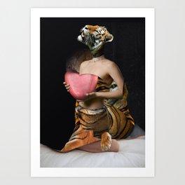 Tiger Bride Art Print