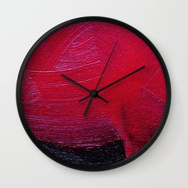 Red oil Wall Clock