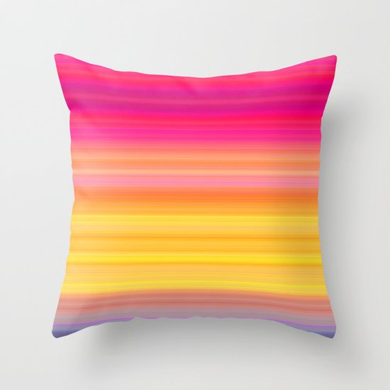 Society Sunset Throw Pillow