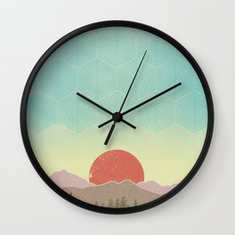 FOREST MOUNTAIN Wall Clock