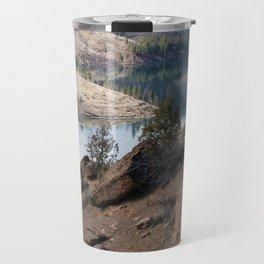 Rocks at Lake Billy Chinook Travel Mug