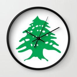 Lebanon Cedar Tree Wall Clock
