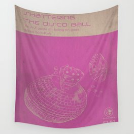 Shattering The Discoball Wall Tapestry