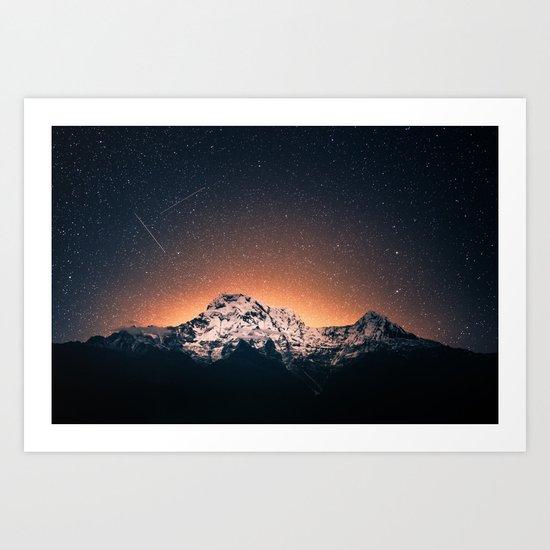 Magical Mountain #galaxy #photography Art Print