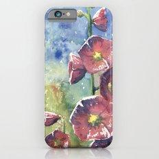 Hollyhocks - Pink Flowers Slim Case iPhone 6s