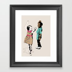 Dancing Kids Framed Art Print