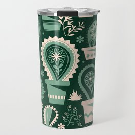Paisley succulents Travel Mug