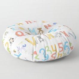 Animals Alphabet Floor Pillow