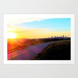 Cityscape Sunset 25 Art Print