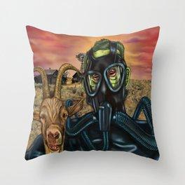Frogman & Goatboy Throw Pillow