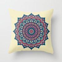 islam Throw Pillows featuring Mandala by Mantra Mandala