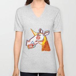 Basquiat Skull Unicorn Unisex V-Neck