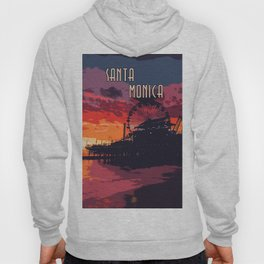 Sunset in Santa Monica, California Hoody