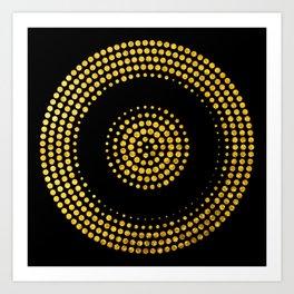 Abstract gold confetti Art Print