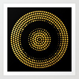 Abstract gold confetti Art Print