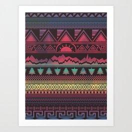 Autunno   Tribal Art Print