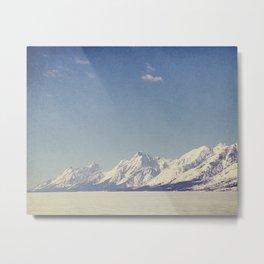 Grand Tetons Streching Out Metal Print