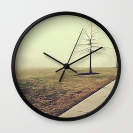 Bereft Fog Wall Clock