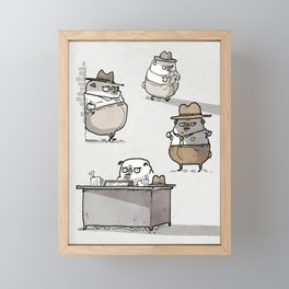 Ketch Fetchum, Pug Private Eye Framed Mini Art Print