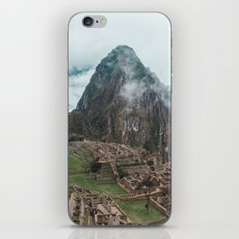 Ancient Inca ruins of Machu Picchu and surrounding Andes mountains in the early morning, Peru iPhone Skin