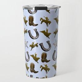 Old West Cowboy Rodeo Pattern Travel Mug