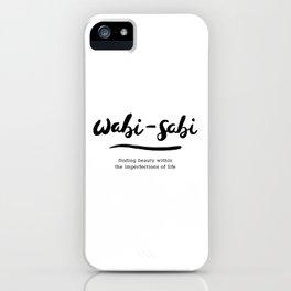 Wabi-Sabi | Black Ink iPhone Case