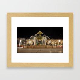 // place de la concorde // paris Framed Art Print
