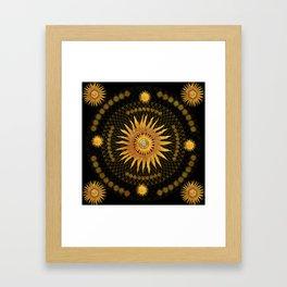 """Black & Gold Vault Mandala"" Framed Art Print"
