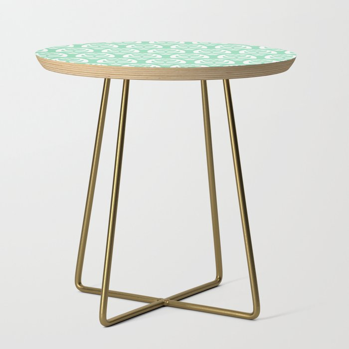 Mid_Century_Modern_Sunflower_Mint_Green_Side_Table_by_Tony_Magner__Gold__Round