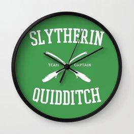 Hogwarts Quidditch Team: Slytherin Wall Clock