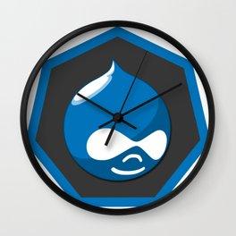 drupal logo sticker Wall Clock