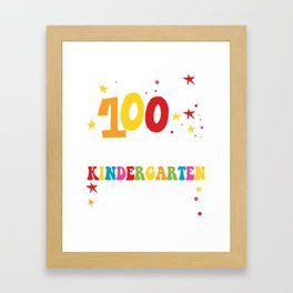 Kindergarten T-Shirt. Awesome Costume Framed Art Print
