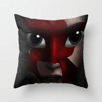 katniss Throw Pillows featuring Katniss by BellaG