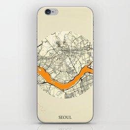 Seoul Map Moon iPhone Skin