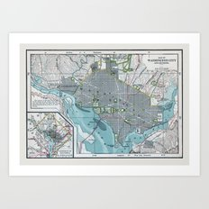 Washington City Art Print