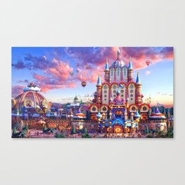 Europe Castle Fairy Tail Canvas Print