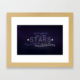 My Thoughts Are Stars - TFIOS Framed Art Print