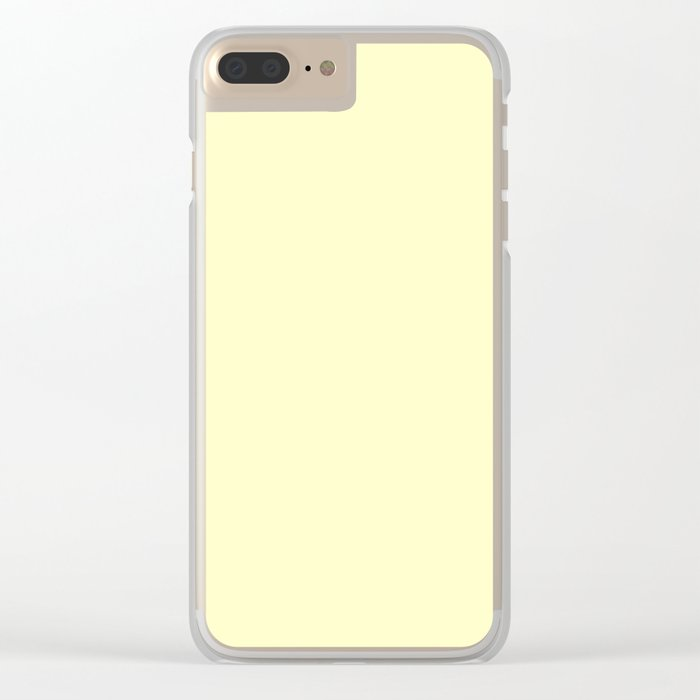 Simply Pale Yellow Clear iPhone Case