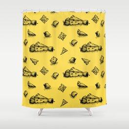 Cheeesy mood Shower Curtain