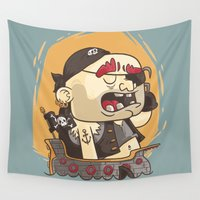 pirate Wall Tapestries featuring Pirate!!! by Mr Lemonade