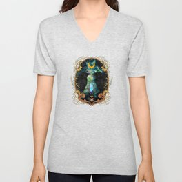 Raven Moon Oracle With Crystal Pendulum Unisex V-Neck