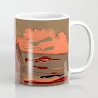 soldier Mugs featuring Soldier ( drawing) by Ganech joe
