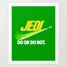 Brand Wars: Jedi - green lightsaber Art Print