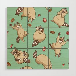 Raccoons Love Wood Wall Art